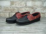 Мокасины топсайдеры Sebago Docksides кожаные black/brown (Реплика ААА+), фото 6