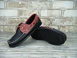 Мокасины топсайдеры Sebago Docksides кожаные black/brown (Реплика ААА+), фото 7