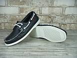 Мокасины топсайдеры Sebago Docksides кожаные black/white (Реплика ААА+), фото 4