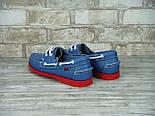 Мокасины топсайдеры Sebago Docksides кожаные blue/red (Реплика ААА+), фото 2