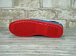 Мокасины топсайдеры Sebago Docksides кожаные blue/red (Реплика ААА+), фото 3