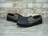 Мокасины топсайдеры Sebago Docksides кожаные black (Реплика ААА+), фото 4