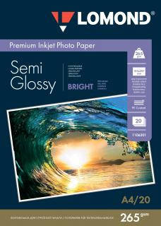 Полуглянцевая двусторонняя ярко-белая микропористая фотобумага для струйной печати, A4, 265 г/м2, 20 листов