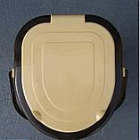 Ведро-туалет с крышкой и сидением Горизонт, фото 5