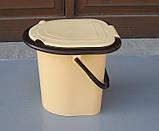Ведро-туалет с крышкой и сидением Горизонт, фото 4