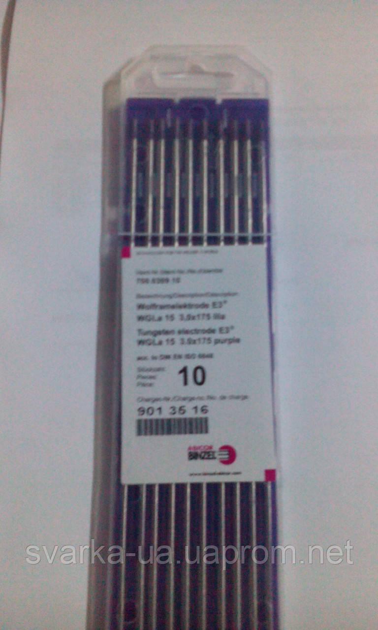 Вольфрамовые электроды  E3 3,0 мм, BINZEL, длинна-175мм