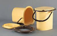 Ведро-туалет с крышкой и сидением Горизонт