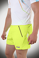 Короткие мужские шорты F50 желтые  (р. S - XXL) арт. 19-04FS