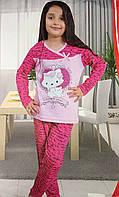 Идеальная пижама с котенком для девочек 4412