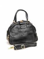 Кожаная женская сумка 9966 Black