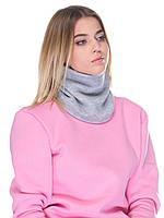 Снуд, лыжный шарф светло серый