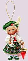 Набор для шитья куклы из фетра Кукла. Франция