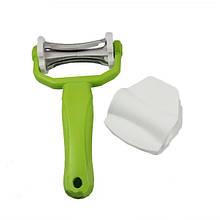 Нож пиллер для овощей 020 3 в 1 овощерезка для чистки Click 'n Peel 3 лезвия
