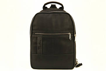 Мужской кожаный рюкзак Tom Stone 410 черный