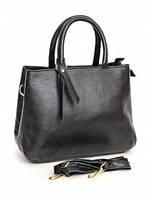 Кожаная женская сумка 518-02 Black