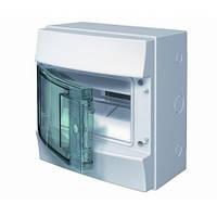 Распределительны щиток наружный с прозрачной дверцей 8 мод. ABB Mistral65 1SL1201A00