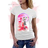Футболка белая женская с рисунком ART GIRL, фото 1