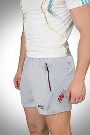 Летние мужские шорты светло-серые  (р. S - XXL) арт. 19B