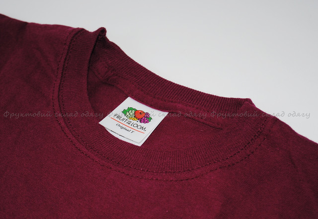 Бордовая мужская лёгкая футболка