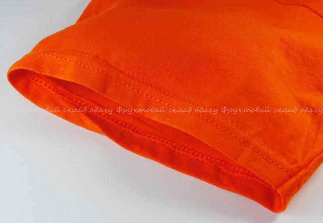 Оранжевая мужская лёгкая футболка