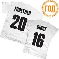 Футболки парные Together Since 03