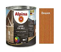 Лазурь-лак алкидный ALPINA LASUR FUR HOLZ для древесины, вишня, 0,75л