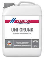 Акриловая грунтовка глубокого проникновения Krautol Uni Grund, 10 л.