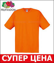 Мужская Футболка Лёгкая Fruit of the loom Оранжевый 61-082-44 Xl, фото 3