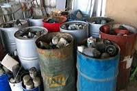 Фильтра отработанные, загрязненный. Масляные и воздушные