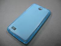 Полимерный TPU чехол Lenovo A766 / A656 (голубой)