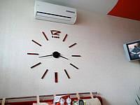 Часы на стену большие с палочками (диаметр 1 м) красные B-03-B-RED