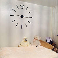Часы на стену большие с палочками (диаметр 1 м) черные B-03-B-BLACK