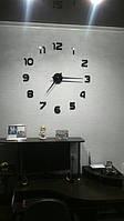 Часы на стену большие с арабскими цифрами (диаметр 1 м) черные B-04-B-BLACK