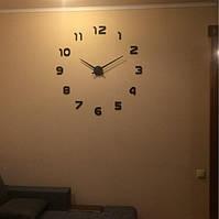 Часы на стену большие с арабскими цифрами (диаметр 1 м) черные B-05-B-BLACK