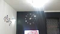 Часы на стену большие с арабскими цифрами (диаметр 1 м) серебристые B-06-S-SILVER