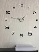 Часы на стену большие с арабскими цифрами (диаметр 1 м) черные B-06-B-BLACK