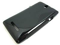 Полимерный TPU чехол Sony Xperia E dual c1605 (черный)