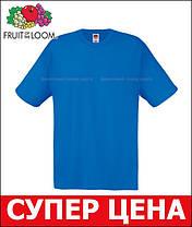 Мужская Футболка Лёгкая Fruit of the loom Ярко-Синий 61-082-51 S, фото 3