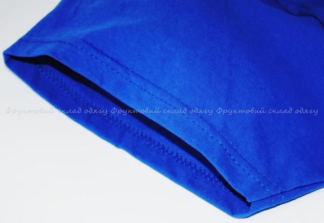 Ярко-синяя мужская лёгкая футболка