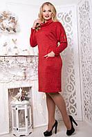 Платье женское на каждый день Иволга р. 50-58 красный