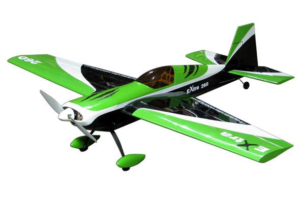 Самолёт р/у Precision Aerobatics Extra 260 1219мм ARF (зеленый)