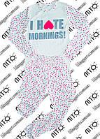 "Пижама для девочки ""I hate mornings"""