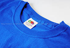 Мужская Футболка Лёгкая Fruit of the loom Ярко-Синий 61-082-51 Xxl, фото 3