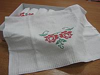 Вафельные кухонные полотенца с большими розами.Набор вафельных полотенец