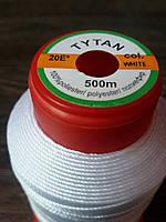 Нитка швейная TYTAN N20 White цвет белый 500м. Турция
