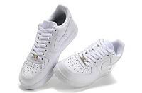 Кроссовки Nike Air Force One Low White Белые женские реплика