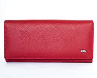Красный матовый кожаный кошелек ST из натуральной кожи высокого качества. От поставщика (15120)
