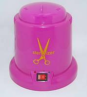 Стерилизатор пластиковый шариковый кварцевый для маникюрного инструмента, розовый
