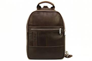 Мужской кожаный рюкзак Tom Stone 410 коричневый