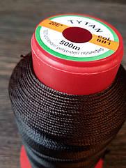 Нитка швейная TYTAN N20 881 цвет коричневый 500м. Турция